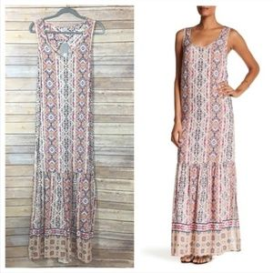 NWT Splendid Printed Maxi Dress - Raspberry Sorbet